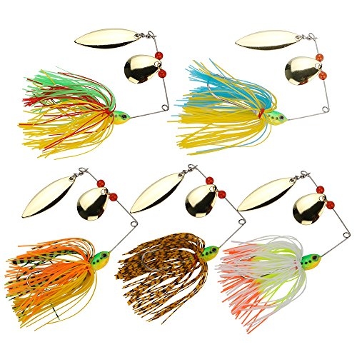 Goture Spinnerbait Fishing Lure Metal Hard Lure Kit for Bass, Trout Walleye, Salmon,Musky, Pike (Set of 10)