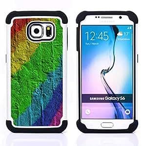 - wall brick pattern gay/ H??brido 3in1 Deluxe Impreso duro Soft Alto Impacto caja de la armadura Defender - SHIMIN CAO - For Samsung Galaxy S6 G9200