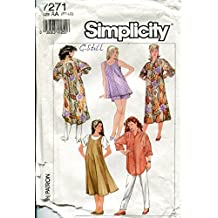 Simplicity Pattern 7271 Misses' Maternity Pull-on Pants and Shorts and Very Loose-Fitting Dress, Shirt, Jumper and Top, AA (PT-LG)