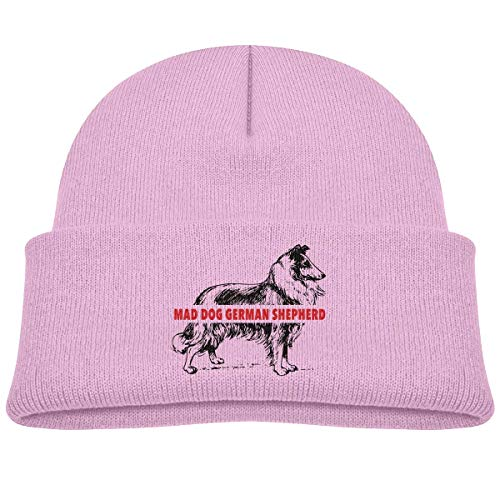 or Infant Toddler Winter Hat Kids Mad Dog German Shepherd Knit Outdoor Warm Caps Unisex ()