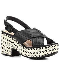 Sandália Shoestock Meia Pata Corda Pesponto Feminina