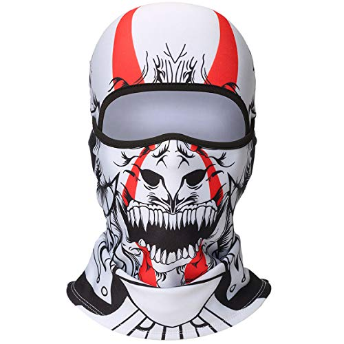 WTACTFUL 3D Animal Fleece Neck Warmer Thermal Windproof Balaclava Face Mask Protection Hood Cover for Ski Snowboard Skateboard Cycling Motorcycle Music Festivals Raves Halloween Party Men Women #2 -