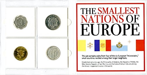 Certificate Collection (1772 The Smallest Nations of Europe 4 Coin Collection With Mini Album & Certificate. Uncirculated)
