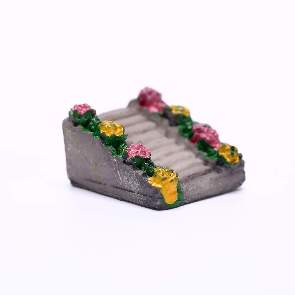 AFCN - Mini escaleras de simulación de Resina para decoración de ...