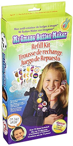 Badges Craft (Choose Friendship, My Image Button Maker, Kids Badge Button Refill Kit, 75 items)