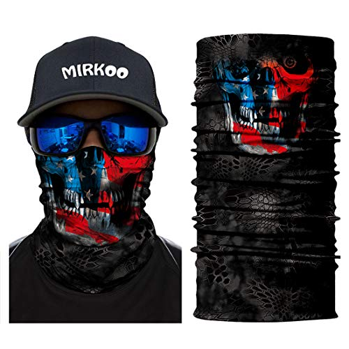 MIRKOO 3D Breathable Seamless Tube Face Mask, Dust-proof Windproof UV Protection Motorcycle Bicycle ATV Face Mask for Cycling Hiking Camping Climbing Fishing Hunting Motorcycling (MK-411)