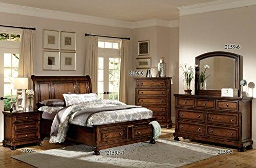 Homelegance Mardelle Sleigh Platform Bed, Full, Cherry