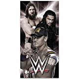 WWE Childrens/Kids Official Cotton Beach Towel (One Size) (Black/White)