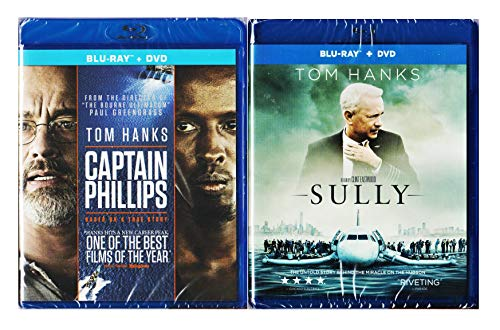 Tom Hanks Double Feature - Captain Phillips (Blu-ray/DVD Combo) & Sully 2-Movie Blu-ray Bundle