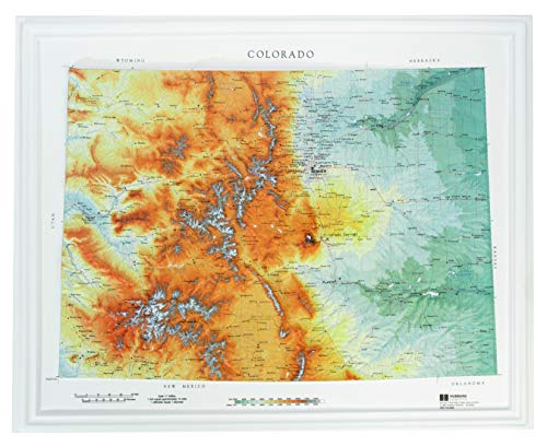 American Educational Colorado Raven style Map without Frame, 19