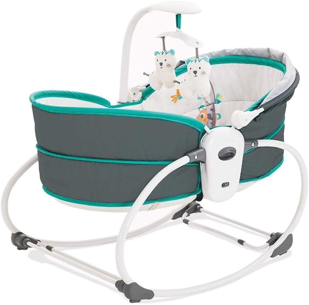MYRCLMY Hamaca para bebés, Mecedora para bebés recién Nacidos, Cuna para bebés, Cuna automática, Cama vibratoria, Cuna portátil, Cesta reclinable con Columpio Deslizante