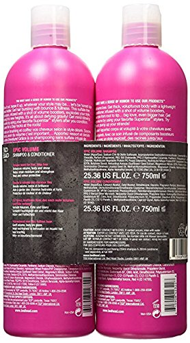Bed Head Styleshots Epic Volume Shampoo and Conditioner Duo by TIGI- 25.4oz each Tween