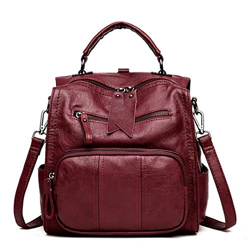 Red école femme sac cuir sac Gensotrn sac dos femmes voyage bandoulière En sac dos vgCgxfqOw