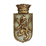 Design Toscano Medieval Rampant Lion Shield Wall Sculpture
