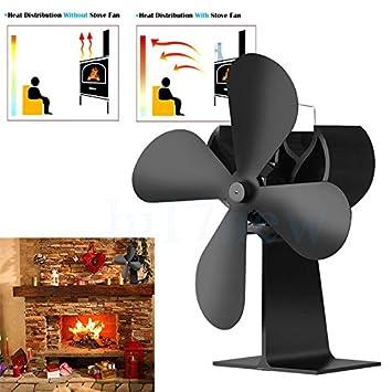 Stromloser Ventilator Fur Kamin Holzofen Ofen Hitze Powered Ofen Fan