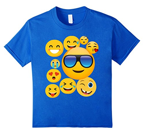 Cute Smiley Face Kids Emoji T Shirt