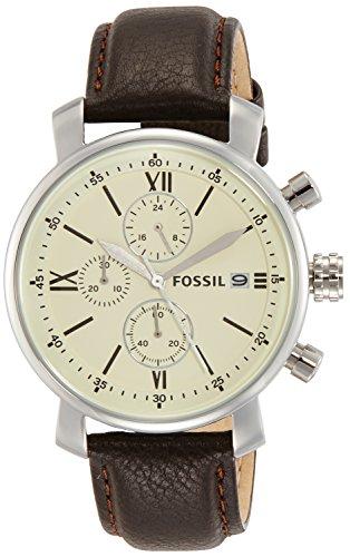 Fossil Analog Off-White Dial Men's Watch – BQ1007