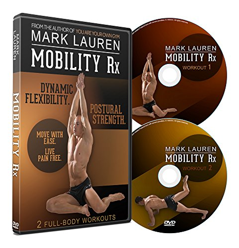 MARK LAUREN Mobility Rx   Bodyweight Workout, Flexibililty, and Stretching DVD Set