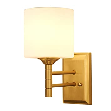 Cdawa Wandlampe Voll Kupfer Wand Lampe Schlafzimmer Nachttischlampe