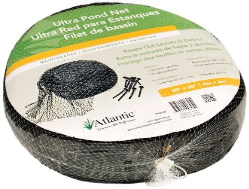Atlantic Water Gardens Pond Net, 20-Feet by 20-Feet, Heavy-duty, Includes Stakes