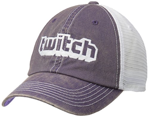 Twitch Logo Trucker Hat Purple/White