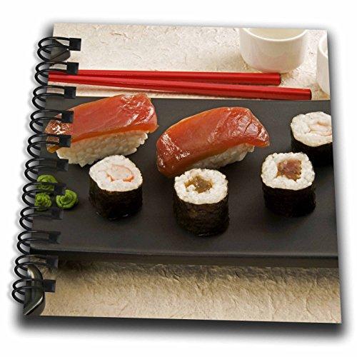Cream Mini Photo Album - 3dRose Sushi, Wasabi Cream, Sushi Ginger Slice, Cuisines-As15 Nto0000-Nico Tondini-Mini Notepad, 4 by 4