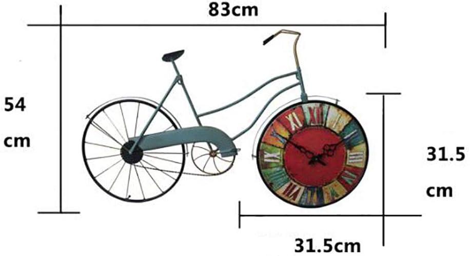 WJXBoos Hecho A Mano Vendimia Metálico 100% Bicicleta Reloj, Sala ...
