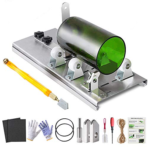 Glass Bottle Cutter Kit, Bottle Cutter DIY Machine for Cutting Round, Square, Oval Bottles and Mason Jars, with Pencil…