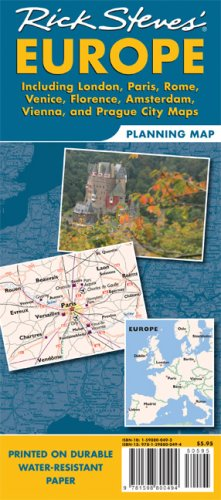 Planning Map - Rick Steves Europe Planning Map: Including London, Paris, Rome, Venice, Florence, Amsterdam, Vienna & Prague City Maps