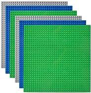 Lekebaby Placas Bases para Construir Compatible con Todas Las Grandes Marcas 25,4 x 25,4 cm Base Verde, Azul y