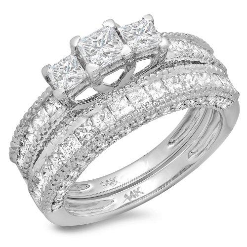 Cut Diamond Bridal Set - 2