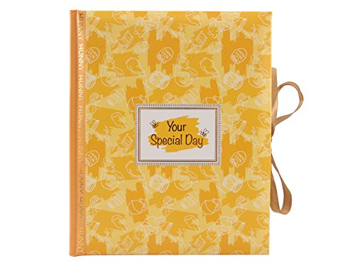 (FUJICOLOR album with ribbon Pocket album Winnie the Pooh [White polka dots] Mount 25 sheets E · L size 100 sheets storage yellow 205804 )