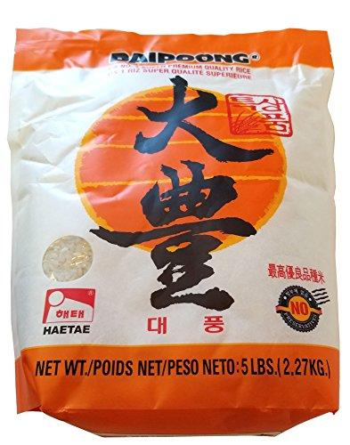 Haitai Korean Premium Quality Rice (Daipoong White Rice 5 Lb x 1) ()