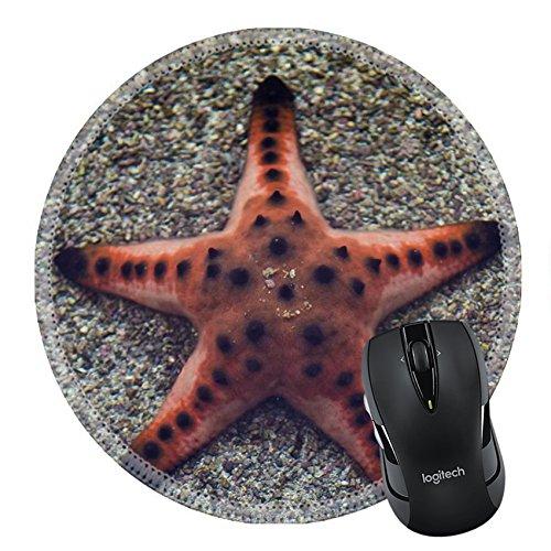 MSD Natural Rubber Mousepad Round Mouse Pad/Mat: 37450151 Starfish at aquarium (Diva Round Necklace)