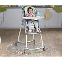 Nuby Floor Mat, Plastic, High Chair Floor Protector, Clear, Multi-Purpose, Fe...