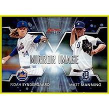 2016 Bowman's Best Mirror Image #MI7 Matt Manning Noah Syndergaard NEW YORK METS DETROIT TIGERS refractor design