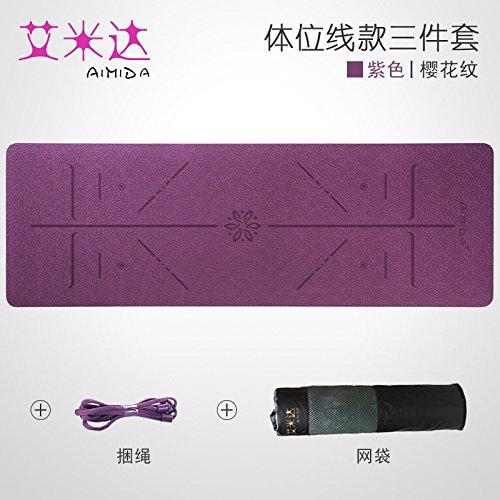 Cherry Pattern violet 8Mm( Beginner) YOOMAT Le Débutant Inodore TPE Yoga Mat Anti-Slip Hommes et Les Femmes Tapis de Remise en Forme et épais grand Stretch Yoga Mat137805