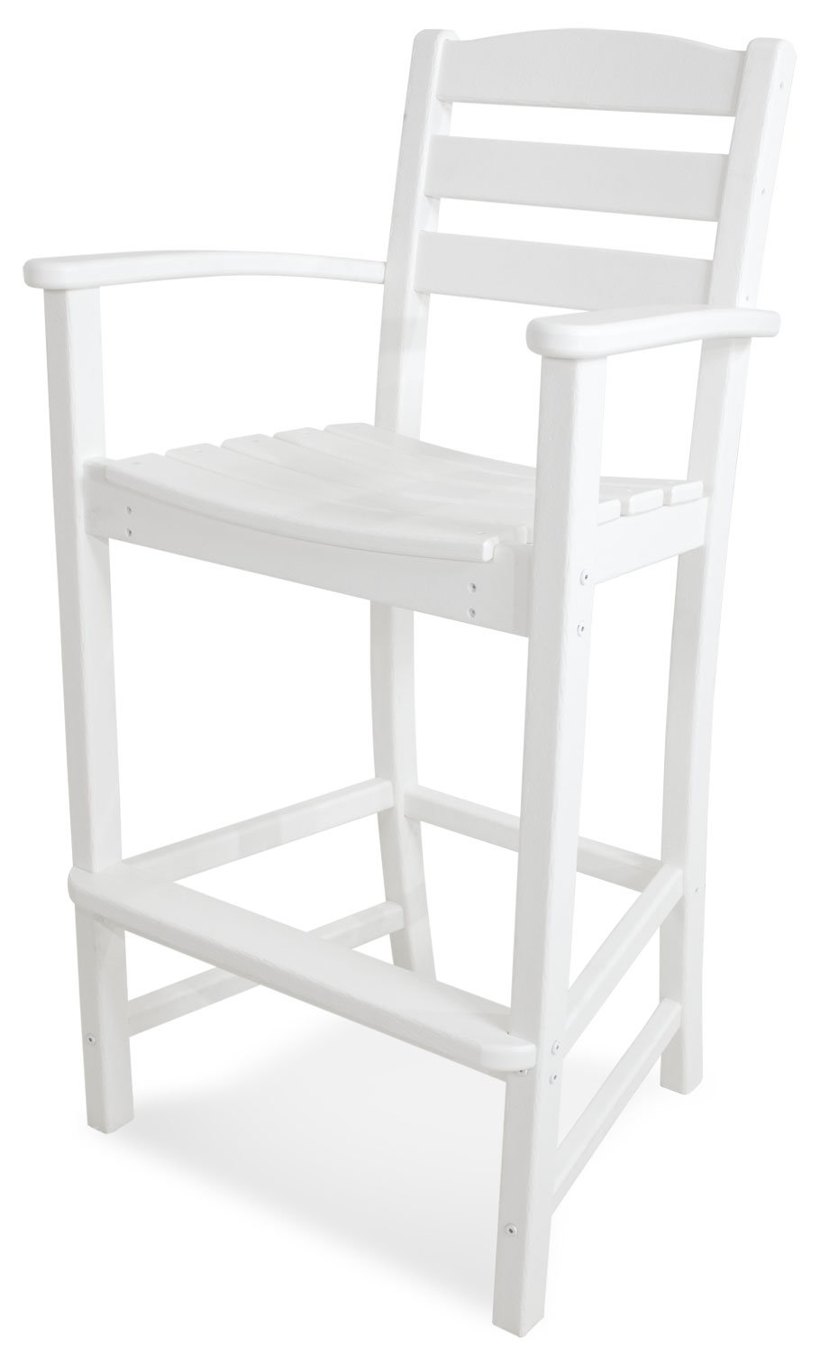 POLYWOOD TD202WH La Casa Café Bar Arm Chair, White