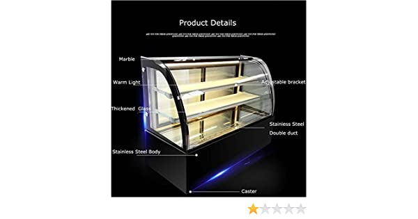 Amazon.com: New Refrigerated Cake Showcase Curved Commercial ...