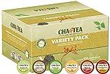 Cha4TEA K-Cup Tea Variety Sampler Pack, 100-Count Keurig K Cups, Multiple Flavors (Green Tea, Black Tea, Jasmine, Earl Grey, English Breakfast, Oolong Green Tea)