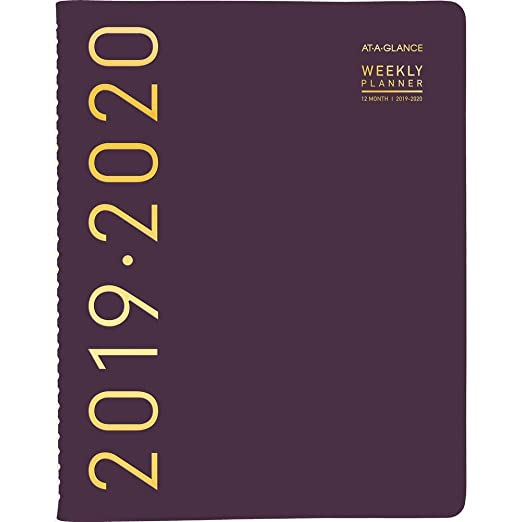 AT-A-GLANCE 2019-2020 Academic Year Weekly & Monthly Planner/Appointment Book, Large, 8-1/2