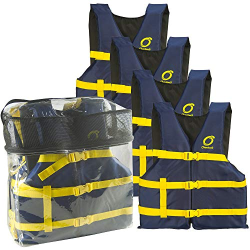 Overton's Universal Adult Life Jackets 4-Pack