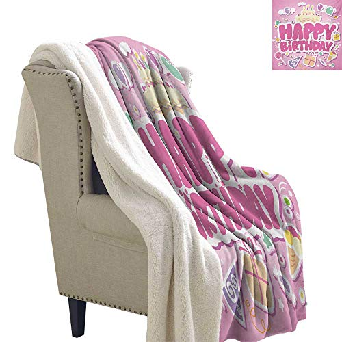 Michaeal Kids Birthday Light Thermal Blanket 60x78 Inch