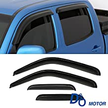 CUSTOM 4pc Vent Shade Window Visors For 99-16 F-250/350/450 SuperDuty Super Crew Cab