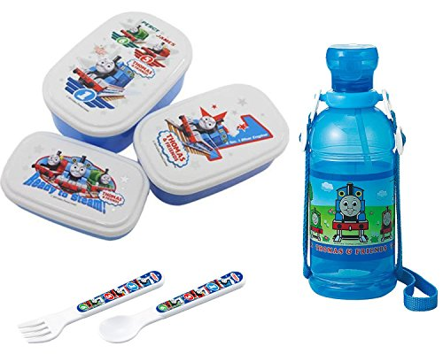 - Children's Water Bottle, Three Lunch Box Set with Spoon and Fork - Everything Has Thomas and Friends Markings