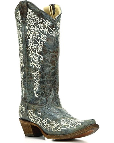 CORRAL Turquoise Toe Boot CORRAL Womens Embroidered Turquoise Womens A3159 Snip 5PxxqTOHw