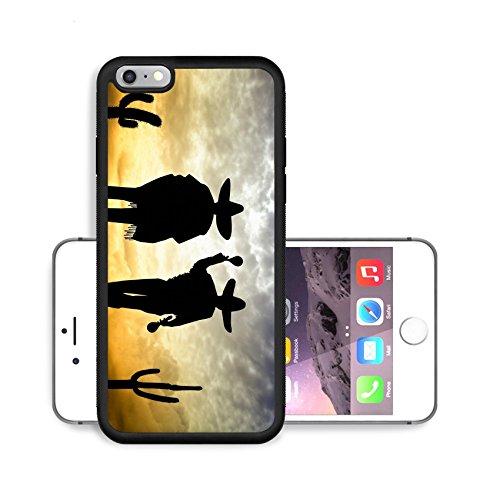 Luxlady Premium Apple iPhone 6 Plus iPhone 6S Plus Aluminum Backplate Bumper Snap Case IMAGE ID 27505842 Mariachi silhouette