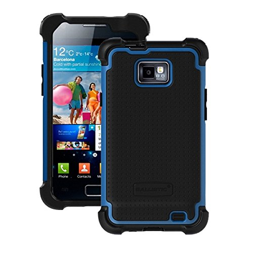 Ballistic SA0854-M375 Soft Gel Case for Samsung Galaxy S2 (SGH-i9100) - 1 Pack - Retail Packaging-Black Silicone/Black TPU/Blue PC