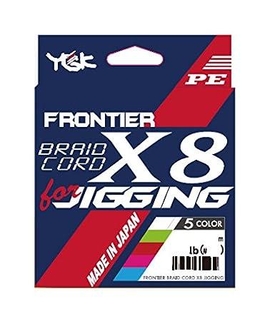 よつあみ(YGK)PEラインフロンティアブレイドコードx8ジギング300m3号40lb5色の画像