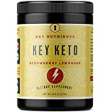 Exogenous Ketone Supplement, KEY KETO: Patented BHB Salts (Beta-Hydroxybutyrate) - Formulated for Ketosis, to Burn Fat, Increase Energy and Focus, Supports a Keto Diet. Strawberry Lemonade (278g)